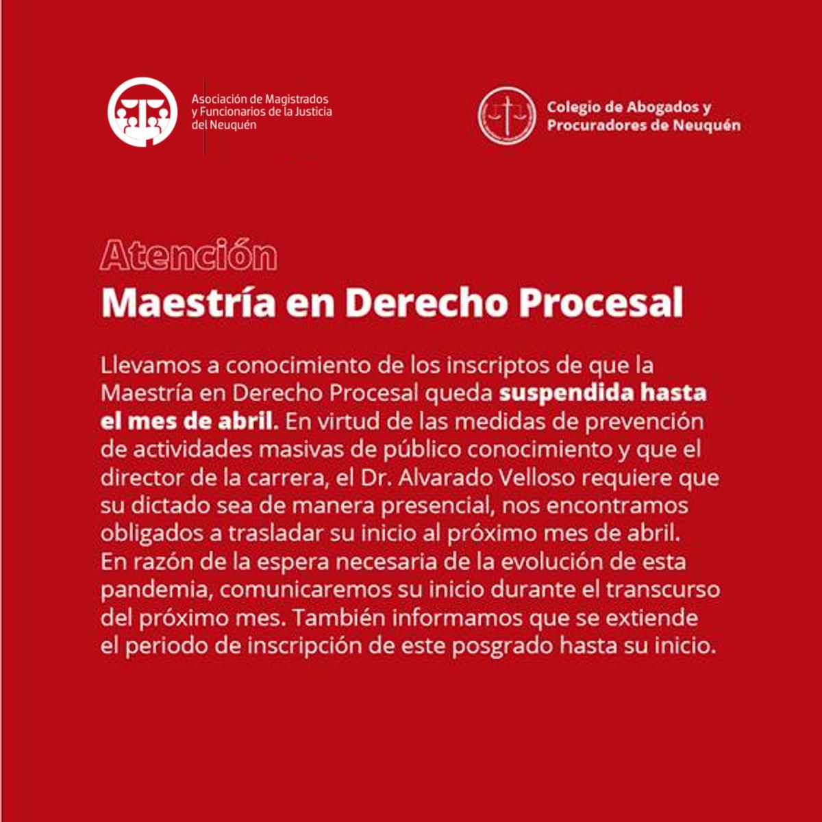 maestria en derecho procesal