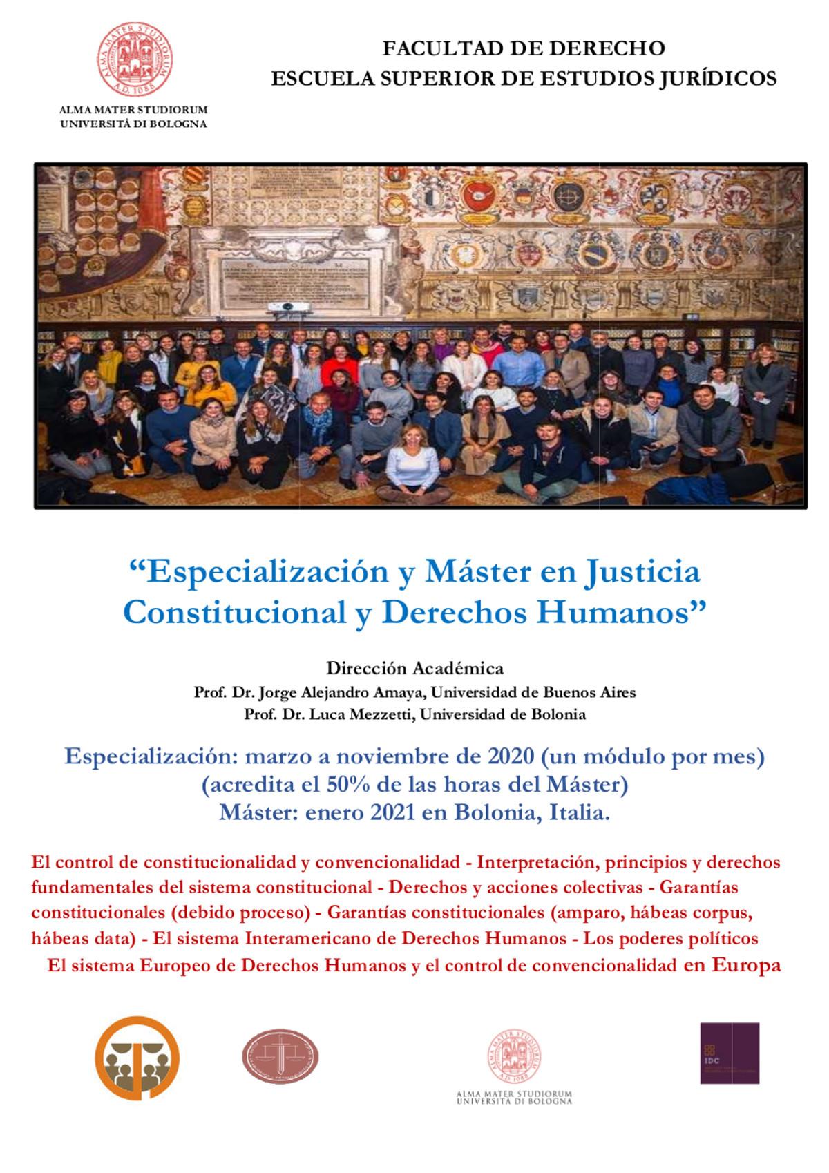 master justicia constitucional y derechos humanos