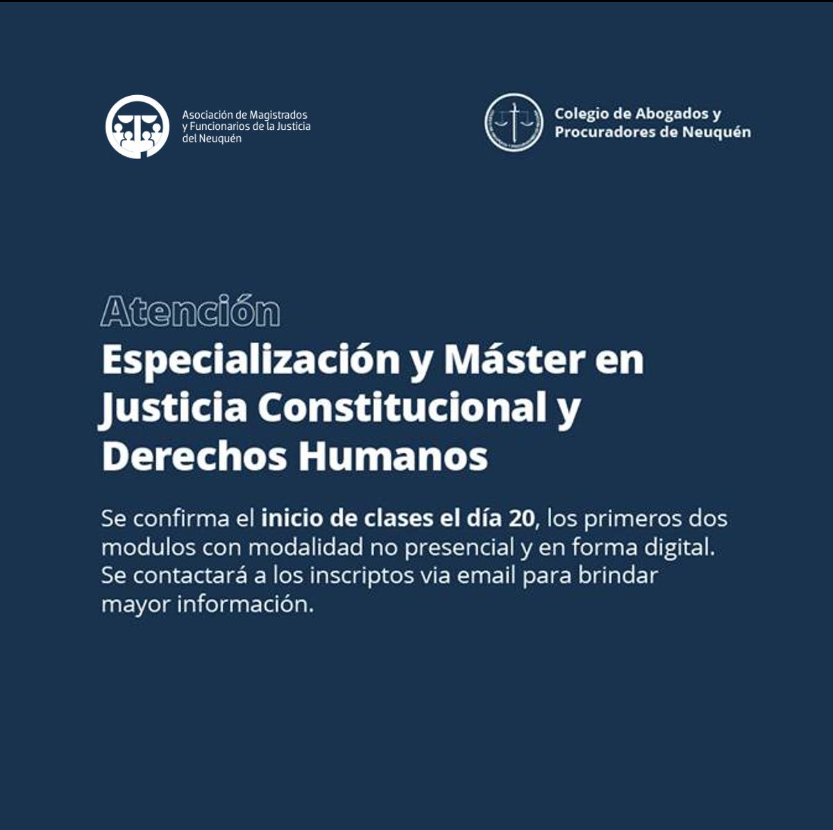 master justicia constitucional