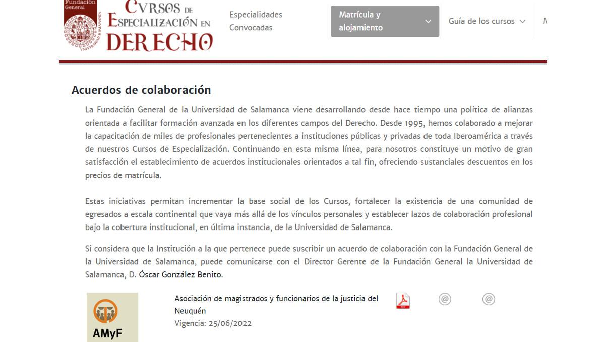 curso especializacion derecho universidad salamanca